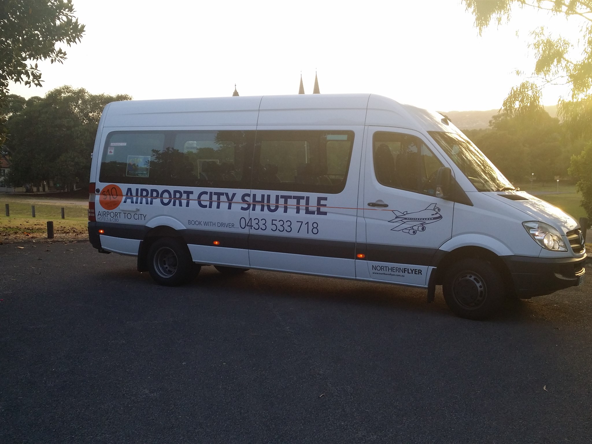 Airport city shuttle